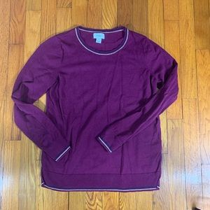 Old Navy Fuchsia Crew Neck Pullover Gold Accent